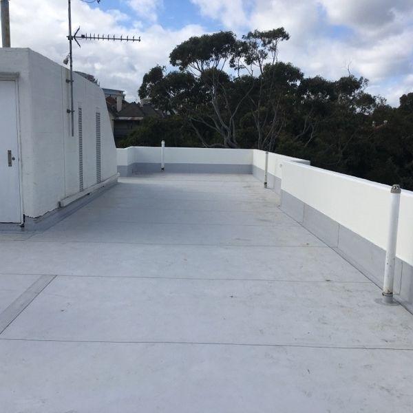 Exit door on the rooftop