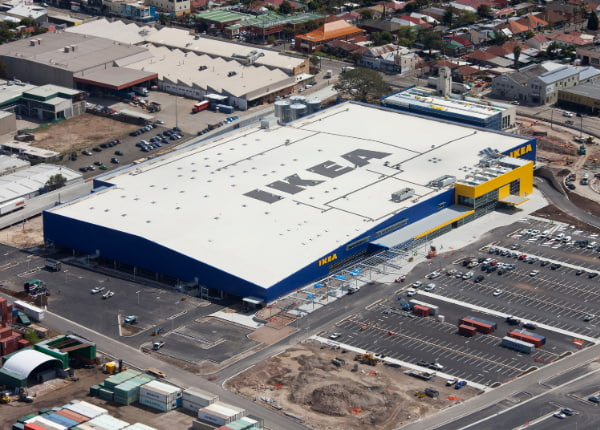 Top view of Ikea building