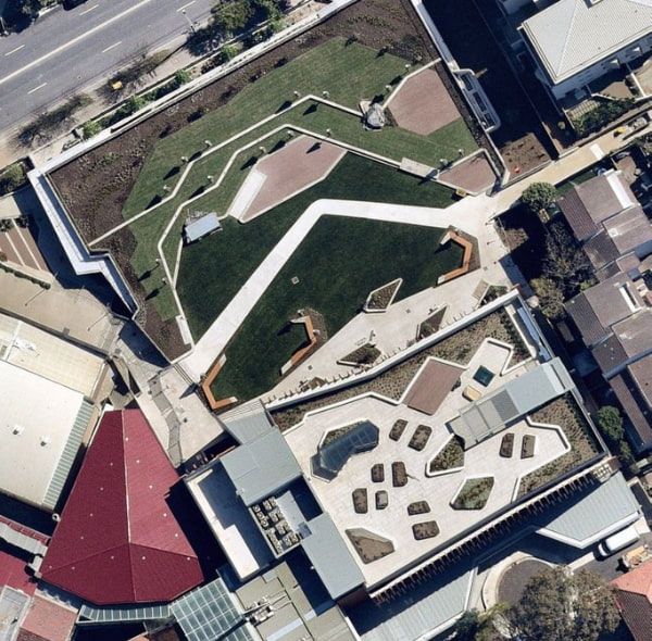 Top view of the redlands