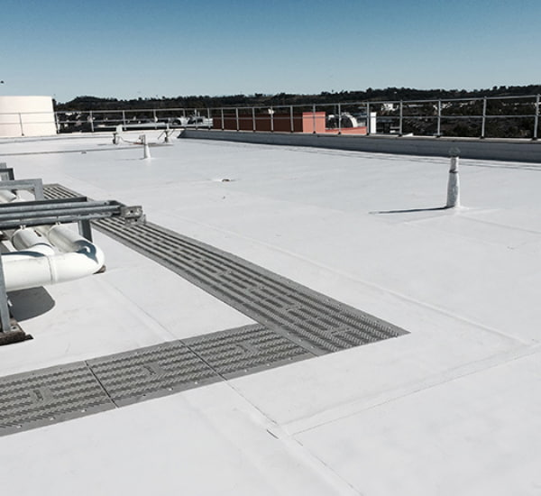 Rooftop view of a building