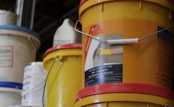 Gallon of Waterproofing mortar