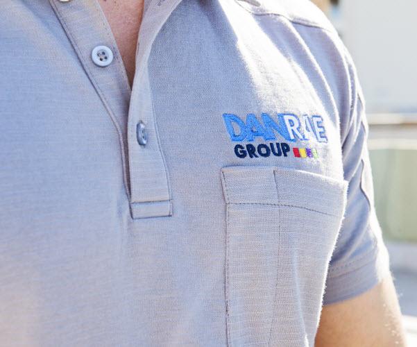 Man wearing a Danrae Group uniform