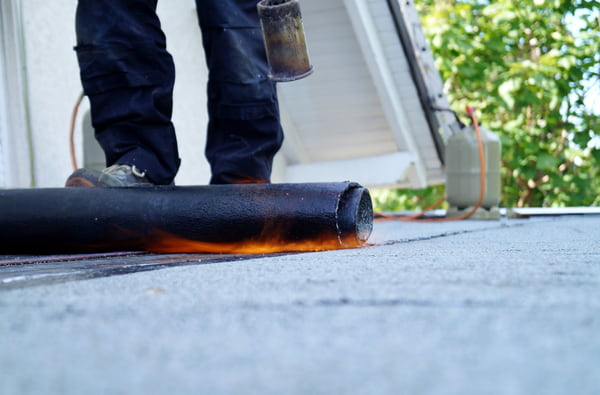 Heating and melting bitumen