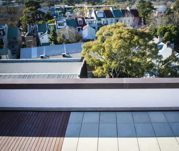 Roof top view with houses and trees view