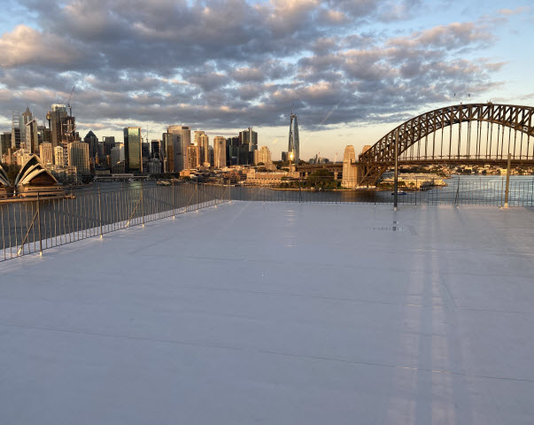 Rooftop view of city of Sydney