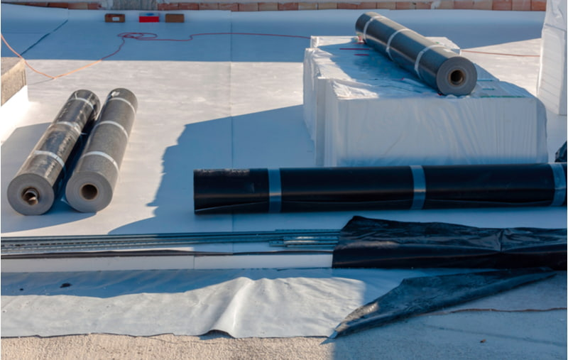 Materials to waterproof a terrace in a new building