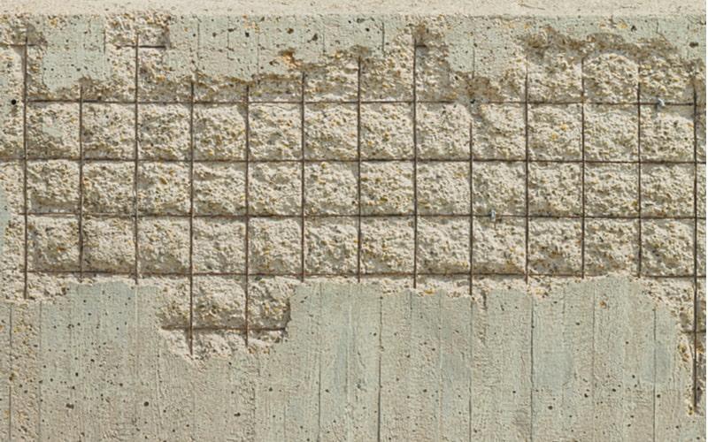 Concrete cover spalling